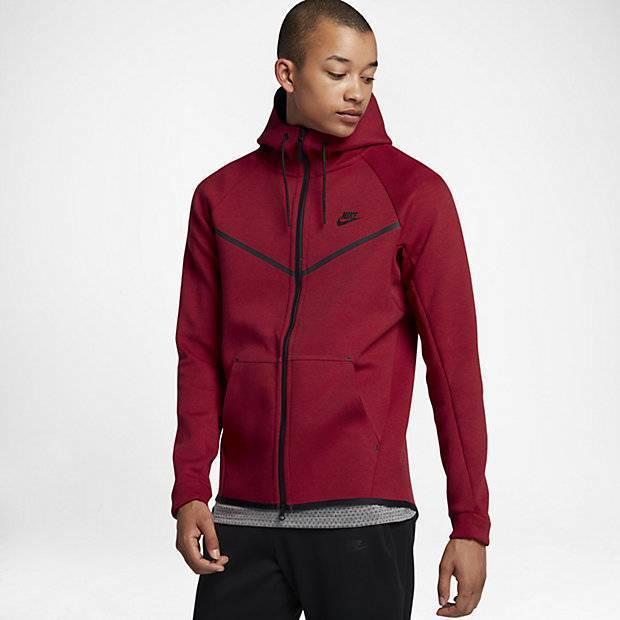 b2296a47 Мужская худи Nike Sportswear Tech Fleece Windrunner (Красный ...